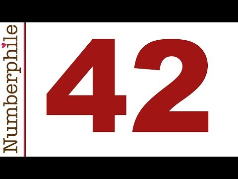 42 and Douglas Adams - Numberphile