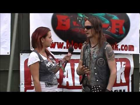 Erik Danielsson (Watain) interview @Bloodstock 2012 with TeePee (TotalRock)