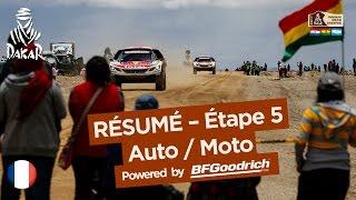 Résumé de l'Étape 5 - Auto/Moto - (Tupiza / Oruro) - Dakar 2017