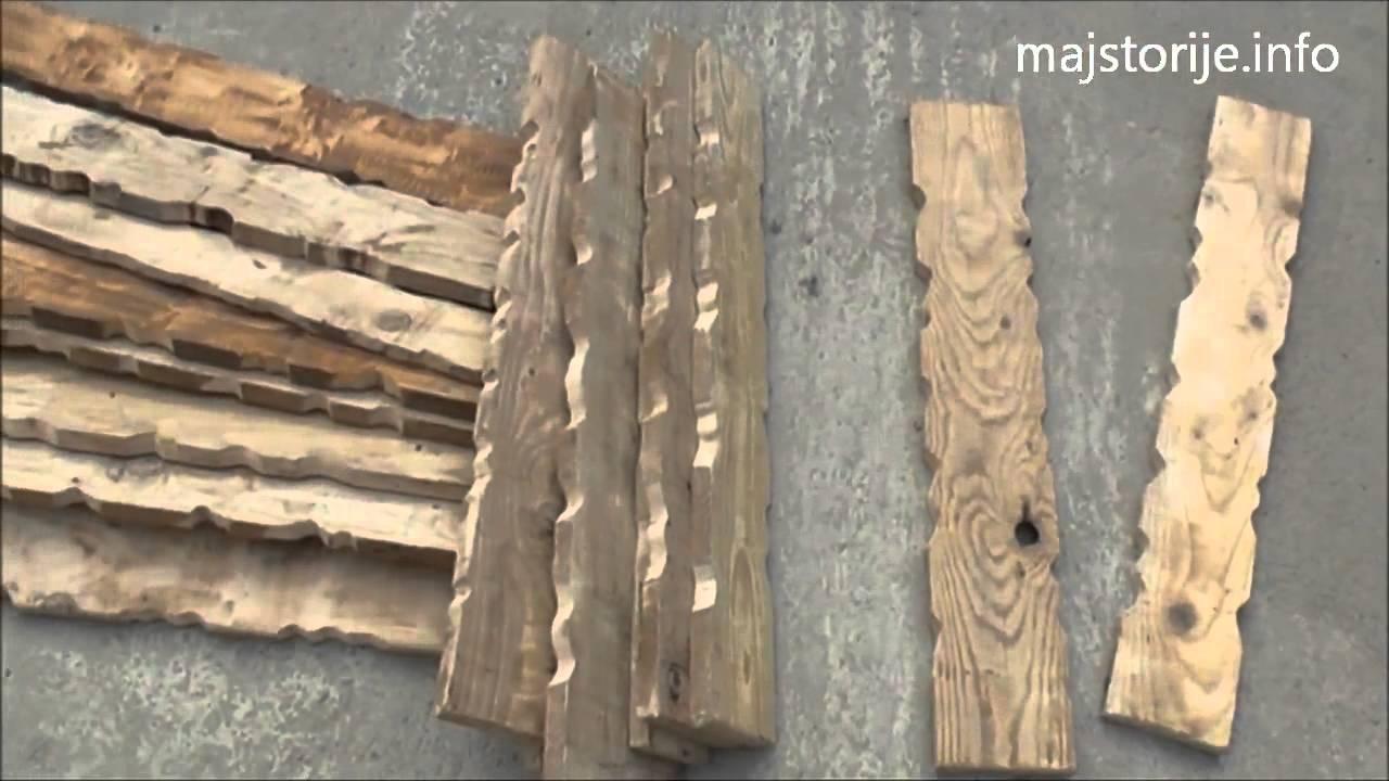 Samogradnja drvene ograde - YouTube