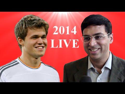 World Chess Championship 2014 Live - Magnus Carlsen vs Viswanathan Anand