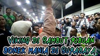 Detik - Detik Kereta Rombongan Suporter Persib VIKING Tiba Di Stasiun Gubeng Surabaya,25 07 2018
