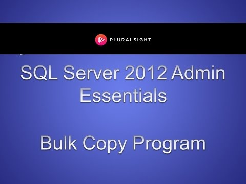 How to Use Bulk Copy Program (BCP) in SQL 2012