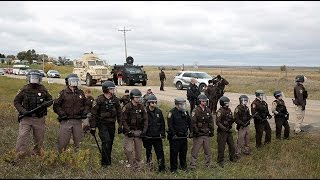 North Dakota cops remove pipeline protesters from private land