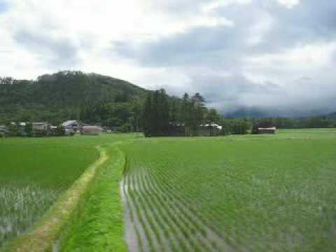 山形新幹線車窓