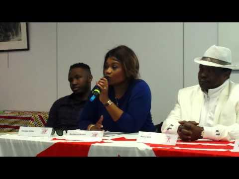 """Barbara Kanam, conférence de presse """"Africa Stop Ebola"""""""