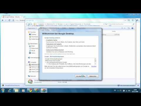 Windows 7 - Suche mit Google Desktop