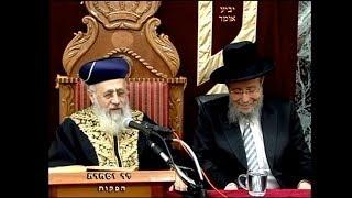 """פרשת תולדות תשע""""ח - מרן הראש""""ל הרב יצחק יוסף שליט""""א"""
