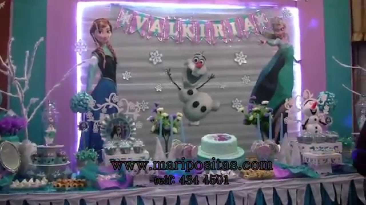 Decoracion de frozen en lima youtube for Decoracion para pared vintage