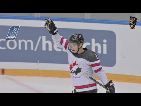 Сумасшедший гол Мэйсона Рэймонда из сборной Канады на Sochi Hockey Open / Crazy goal Raymond, Canada