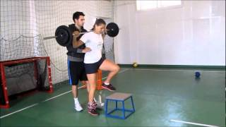 Unilateral squats for tennis players