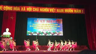 Múa sen học sinh trường mầm non Dương Liễu tổng kết năm học Huyện Hoài Đức