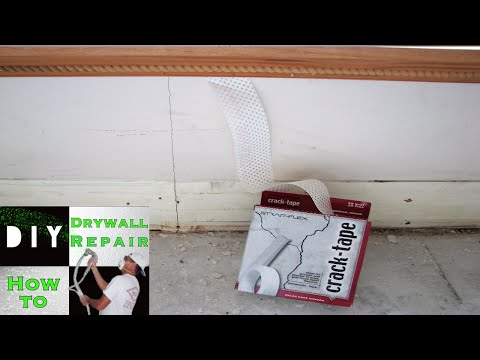 How To Repair a Drywall Crack   Strait Flex Crack-Tape Product Review