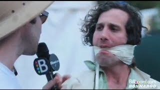 Black Lips Abuse Billboard TV Correspondent @ Bonnaroo 2012