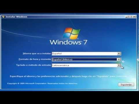 Como configurar el BIOS e Instalar Windows 7