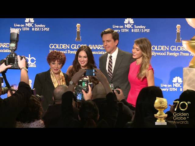 Backstage at the 2013 Golden Globe Nominations
