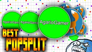 AGAR.IO - THE BEST POPSPLIT GAMEPLAY SOLO IN PARTY - DESTROYING TEAMS IN AGARIO EPISODE 5 !