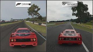 Forza Motorsport 7 vs Gran Turismo Sport - Ferrari F40 at Mount Panorama (Bathurst)