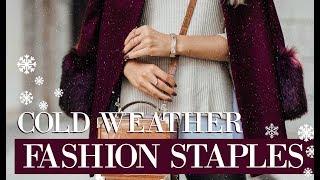 COLD WEATHER FASHION ESSENTIALS // Winter Staples // Fashion Mumblr
