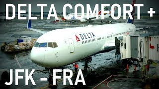 DELTA COMFORT+ New York JFK - Frankfurt | Flight Report | 4K