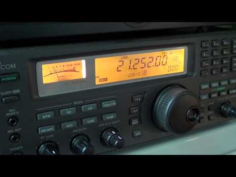 Tuning the 15 meters amateur radio band 1830 UT
