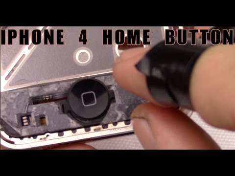 sostituzione tasto home lcd vetro iphone 4 4g home button disassembly replacemente digitizer