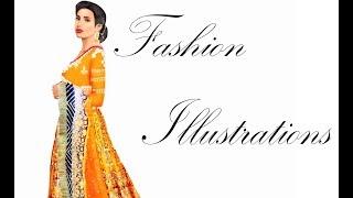 Indian Bridal Fashion Illustration by Ajith Chandran