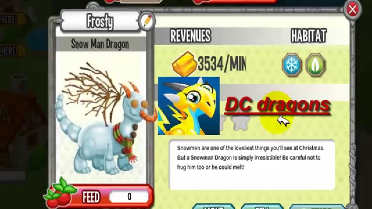 Snow Man Dragon Dragon City