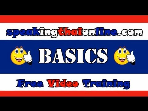 Thai Language Basics - Hello Thank You Goodbye