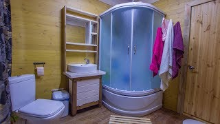 Самодельная тумбочка в ванную