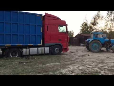 Трактор не може витягнути тягач (Фура)