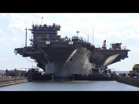 USS Enterprise enters dry dock
