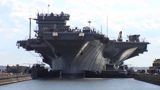 USS Enterprise enters dry dock