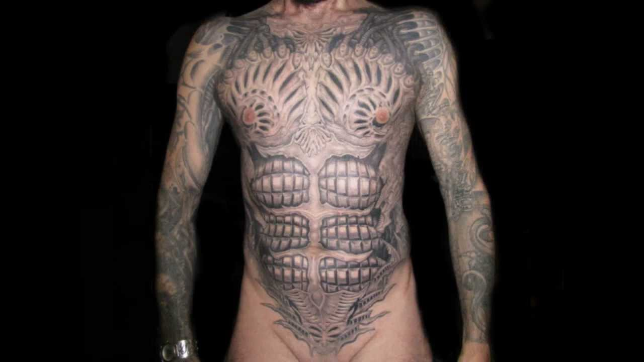 Front Torso Tattoos Torso Biomechanic Tattoo