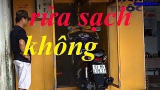 Rửa xe máy tự động Tiền Giang