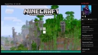 Minecraft PS4 edition livestream (family friendly)