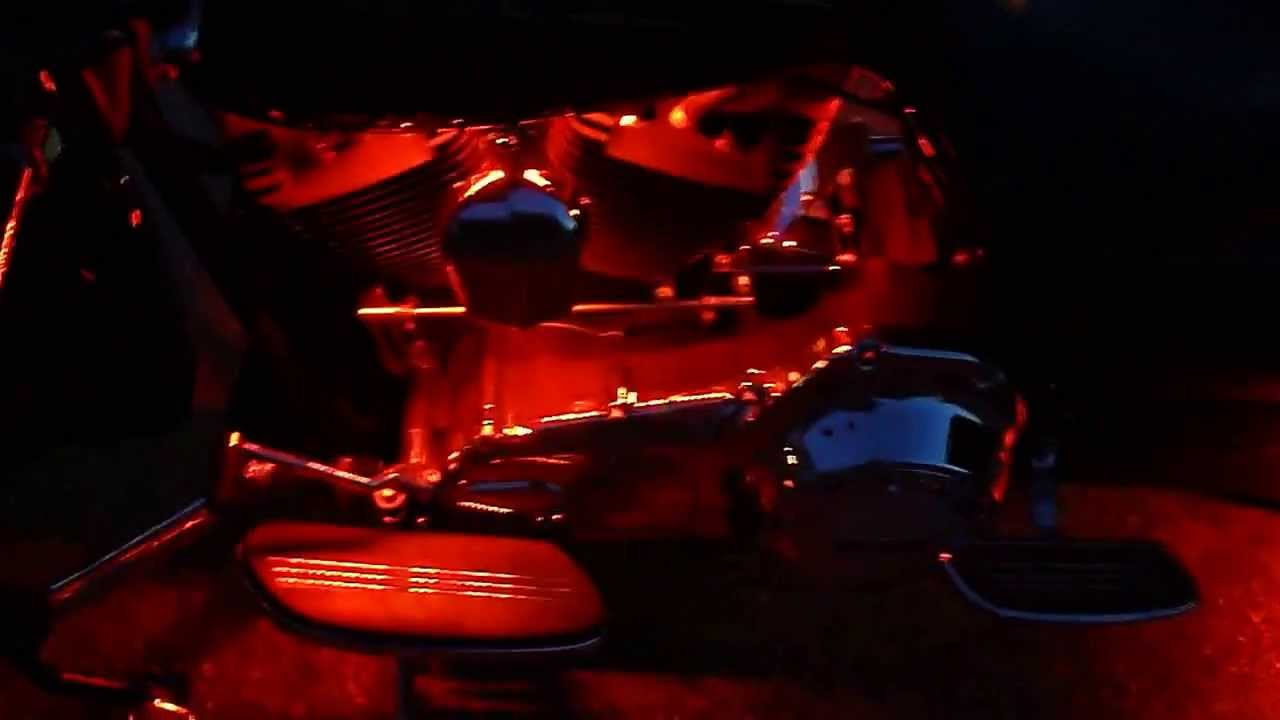 Led Lights On 2011 Harley Road Glide Custom Youtube