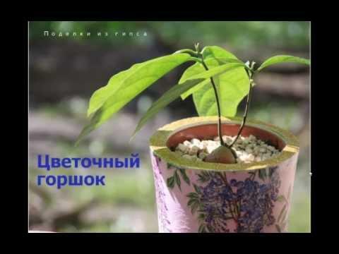 Как сделать цветочный горшок из гипса своими руками