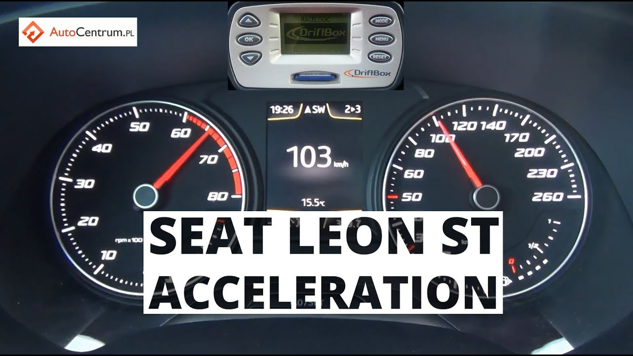 seat leon st fr 1 8 tsi 180 hp acceleration 0 100 km h youtube. Black Bedroom Furniture Sets. Home Design Ideas