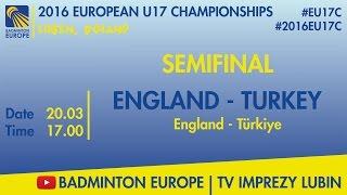 Англия до 17 : Турция до 17