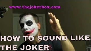 Heath Ledger joker voice impression tutorial: how to sound like the joker