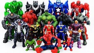 Power Rangers & Marvel Avengers Toys Pretend Play  Hulk, Spider Hulk vs Darkseid Venom Villains Army