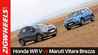 Honda WR V vs Maruti Vitara Brezza | Zigwheels.com