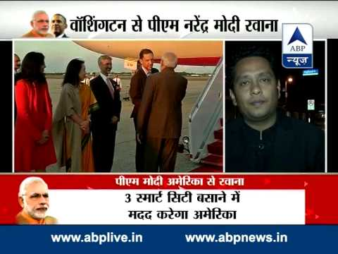 After successful US visit, PM Narendra Modi leaves for India