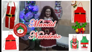 traje/Mandil Navideño fácil de confeccionar/Easy to make Christmas🎄🎅🎶✂︎