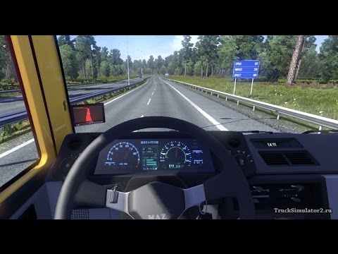 (Euro truck simulator 2) Супер мега дальнобойщик # 42 (Мод МАЗ 6422M)