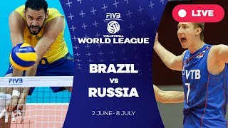 Brazil v Russia - Group 1: 2017 FIVB Volleyball World League