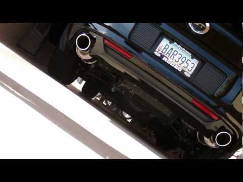 ROUSH Axleback Exhaust-2014 Mustang GT Premium Cold Start