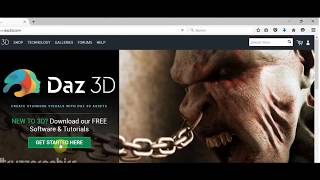 how to install daz3d studio and download