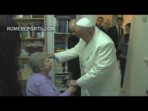Pope Francis makes a surprise visit to an elderly home